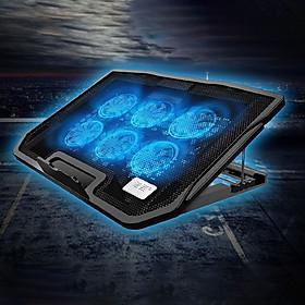 Đế tản nhiệt laptop, máy tính xách tay H9 có đèn LED 6 quạt giúp làm mát nhanh bảo vệ máy tính mà không gây ồn