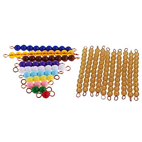 Kids Toddlers 1-10 Beads Bar Math Learning Counting Educational Training Toy
