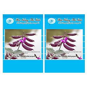 Bộ 2 Gói Hạt Giống Đậu Ván Tím (Lablab purpureus) 10h