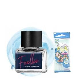 Nước Hoa Vùng Kín  Foellie Eau De Vogue Inner Perfume (Màu Xanh)- hương biển thơm mát + Tặng kèm 1 Túi Lưới Rửa Mặt Tạo Bọt