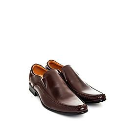 Giày tây nam chữ V đen TMN07201