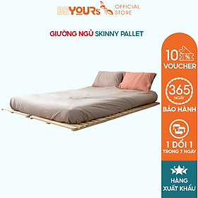 Giường Ngủ Pallet Gỗ Thông BEYOURs Skinny Giường Gỗ Gấp Xếp Gọn Thông Minh Kiểu Hàn Quốc