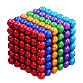 Bi nam châm 216 viên 5mm sắc màu