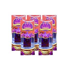 Combo 5 Lọ Nhụy hoa nghệ tây Tashrifat Saffron loại chuẩn Negin (1 Grams)