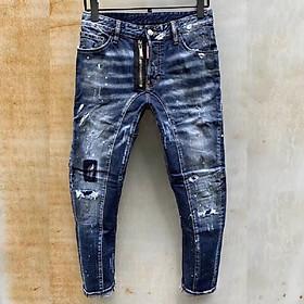 Quần jean nam màu xanh có họa tiết đẹp hàng mới về, dẫn đầu xu hướng đã có mặt tại Julido Store  mẫu mới MA25