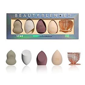 Set 4 mút trang điểm tặng kèm giá đỡ mút Hold Live muntifuncitional beauty blender