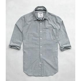 Áo sơ mi nam tay dài trắng công sở vải oxford cao cấp ND02