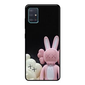 Ốp lưng điện thoại Samsung Galaxy A51 viền dẻo TPU BST KAWS Sesame Street Mẫu 8