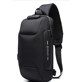 Túi đeo ngực,đeo chéo nam tích hợp sẵn công nghệ khóa chống trộm cao cấp phong cách châu âu