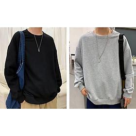 Áo Sweater Nỉ Chui Trơn Nam Nữ Đều Mặc Được Dễ Dàng Phối Đồ