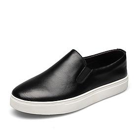 Giày xỏ thể thao, giày lười big size cỡ lớn bằng da bò cho nam chân to cân đối - GL112