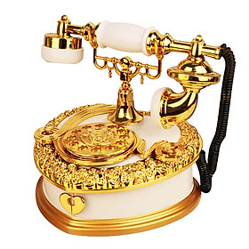 Light luxury retro phone music box clockwork music box jewelry box European photography props ornaments