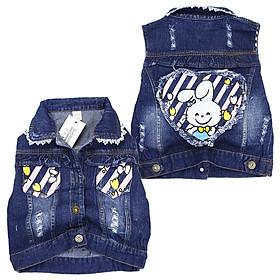 Áo khoác jean đáng yêu cho bé gái Quảng Châu 12 đến 25 kg 01714