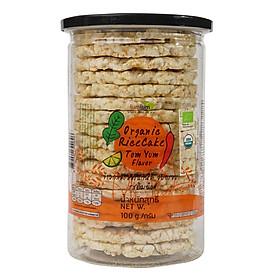 Bánh Gạo Lứt Hương Lài Hữu Cơ Vị TomYum 100g Lumlum  Organic Rice Cake Tomyum Flavor