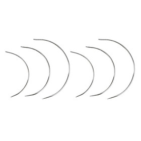 6 Pieces Plating Silver Curved Neddle for repair leather Sofa Carpat Tool