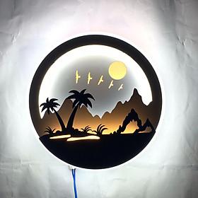 Đèn Treo Tường Trang Trí Cây Dừa DJ Đèn Gắn Tường LED