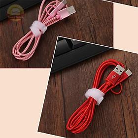 Cáp sạc dây dù 2 đầu dính Micro Usb và TypeC dài 1m2 chống đứt cho điện thoại Samsung Vivo Oppo
