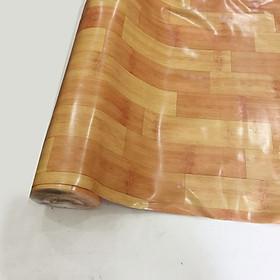 Thảm nhựa simili trải sàn cao cấp - loại dày chống cháy - vân gỗ tre vàng nhạt