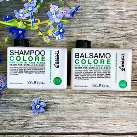 Bộ dầu gội xả giữ màu tóc nhuộm Faipa Three3 Hair Care Colore Protecting shampoo & balm 300ml