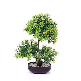 Artificial Flowers Plastic Plants Artificial Plants Bonsai Desktop Ornament for Home Bonsai Decoration