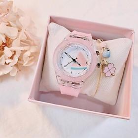 Đồng hồ nữ Gristal Dream dây cao su phát sáng nhiều màu rất đẹp