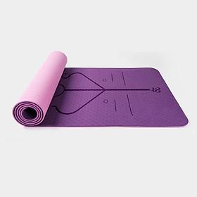 Thảm tập yoga định tuyến cao cấp DOPI DP1102-2 Chất liệu TPE siêu bám