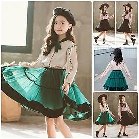 VL2Size130-160 (21-40kg)Đầm cho bé gái, kiểu dáng công chúaThời trang trẻ Em hàng quảng châu