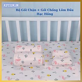 Bộ Gối Lõm, Gối Chặn chống bẹp đầu, méo đầu, móp đầu, con ngủ ngon giấc cho em bé và trẻ sơ sinh