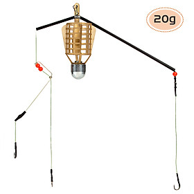 Fishing Bait Cage with Hook Line Fishing Feeder Sinker with Hook Line Fishing Accessory