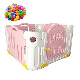 [Tặng kèm 50 Bóng] Bộ Quây Cũi  Nhựa Good Babyroom (4 Tấm) Edu.play Hàn Quốc Cho Bé Từ 1 Tuổi Trở Lên (Màu Pastel), Lắp Đặt Dễ Dàng - Kích Thước 102 x 102 x 60 cm