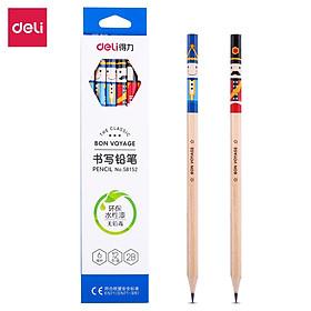 Bút chì gỗ Deli - Họa tiết hoạt hình HB/2B - 12 chiếc/Hộp - 58151/58152
