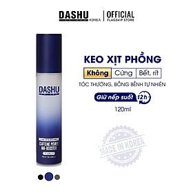Keo vuốt tóc nam độ cứng cao cho tóc ngắn, tóc vuốt dựng, keo xịt giữ nếp tóc cao cấp Hàn Quốc Dashu Caffeine Power Air Booster 120ml (Ultra Hard), chuyên dùng cho tóc khó vào nếp, tóc mỏng, keo chứa thảo dược dưỡng tóc.