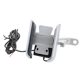 Motorcycle Handlebar Aluminium USB Charging Mobile Phone Holder GPS