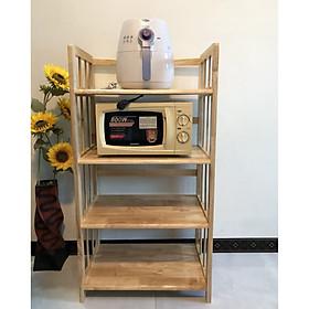 Kệ nhà bếp 4 tầng gỗ tự nhiên VIMOS