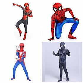 Quần áo siêu nhân hóa trang Người Nhện - SpiderMan cực chất áo liền quần kèm mũ trùm