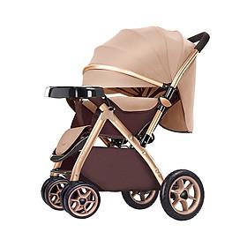 Xe đẩy trẻ em cao cấp 2 chiều 3 tư thế gấp gọn khi du lịch, kiểu dáng sang trọng (Xe đẩy mới 2019)