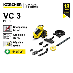 Máy Hút Bụi Karcher VC 3 Plus - Hàng chính hãng