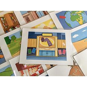 Place Flashcards - Set 2 - Thẻ học tiếng Anh chủ đề các địa điểm, nơi chốn - 20 cards - Bộ 2 (Earth, hut, igloo, island, lake, library, ...)