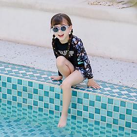 Đồ bơi bé gái tay dài rất đáng yêu 2035-65
