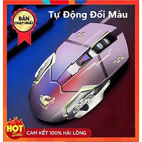 Chuột Game Có Dây XSmart FREE WOLF V5 LED 7 màu cực đẹp chuyên gaming, siêu bền, chỉnh được dpi - Hàng Chính Hãng