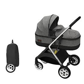 Xe đẩy trẻ em 2 chiều 3 tư thế gấp gọn, xe đẩy du lịch, xe đẩy nôi cho bé siêu nhẹ  ( xám )