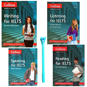 Combo Collins English For Exams :  Reading, Writing, Listening, Speaking For IELTS (Kèm 2 CD) ( Tặng Kèm Bút )