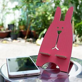 Giá đỡ điện thoại hình thỏ bằng gỗ ngộ nghĩnh