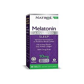 Natrol Melatonin Advanced Sleep Tablets with Vitamin B6, Helps You Fall Asleep Faster, Stay Asleep Longer, 2-Layer Controlled Release, 100% Drug-free, Maximum Strength