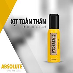 Xịt toàn thân nước hoa Dubai FOGG Dynamic 120ml,Xịt toàn thân hương nước hoa,Xịt nước hoa,Xịt thơm,Xịt mùi cơ thể,Xịt toàn thân unisex,Xịt toàn thân lưu hương 6-8 tiếng, Xịt khử mùi toàn thân nước hoa,Không gas