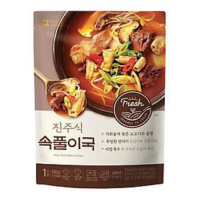Canh thịt bò cay Jinju Hàn Quốc OURHOME - 400g