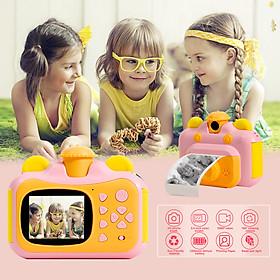 Camera in tức thì cho trẻ em bằng giấy in Màn hình 2,4 inch Ảnh 12MP 1080p Quay video có thể sạc lại cho trẻ em