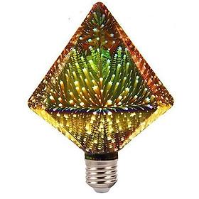 Bóng đèn 3D led nhiều màu kim cương 3W