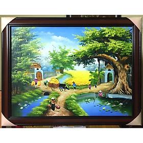 Tranh sơn dầu Đồng Quê Việt Nam