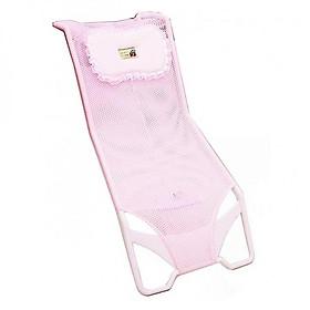 Ghế lưới lót chậu tắm cho bé kèm gối ( Tặng 01 lục lạc gỗ phát tiếng vui nhộn cho bé )
